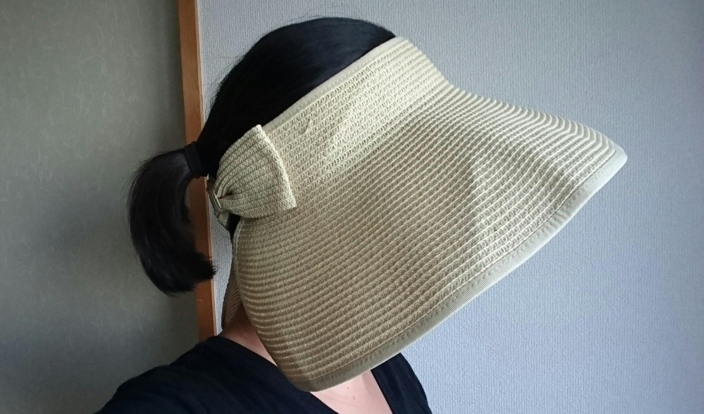 麦わらサンバイザーを使ってみたのでレビュー!帽子が苦手な人もおすすめだよ