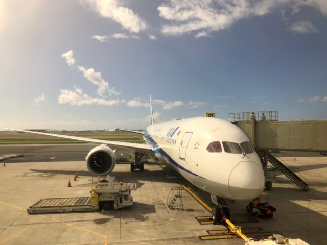 【子連れハワイ】飛行機での過ごし方。バシネット、子どもの機内食は?