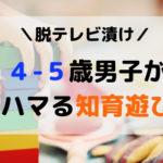 4・5歳男子の知育遊び☆脱テレビ!を目的に試したハマる室内遊び