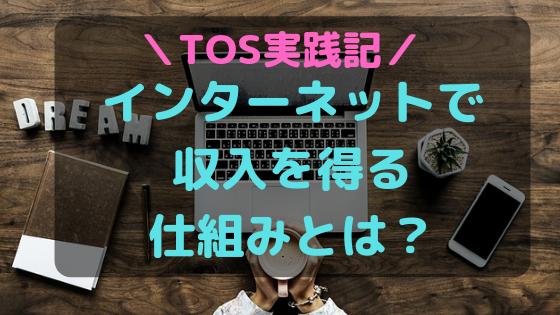 【TOS実践記】インターネットで収入を得る仕組みとは?